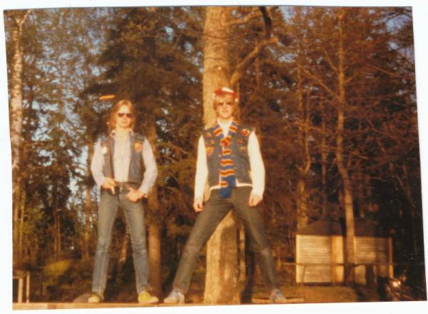 Innan hemmamatch 1979.